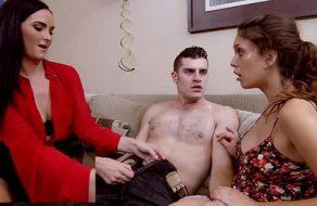 Su madre la sorprende cuando le dice que le ha comido la polla a su novio