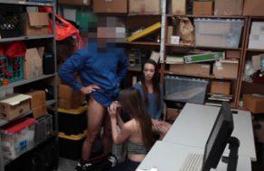 Jóvenes folladas por robar en una tienda