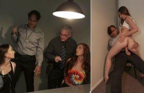 Sospechosa de un delito follada por un policía durante el interrogatorio