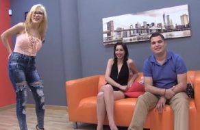 Parejita española muy joven debuta en el porno amateur por dinero