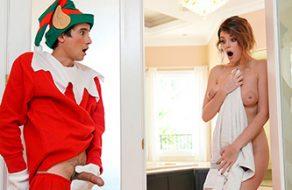 Michele James se encuentra un elfo de Navidad y se lo folla